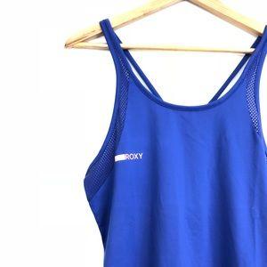 Roxy Tops - ROXY Womens Large tank top blue channel flow